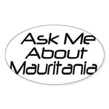 Ask me about Mauritania Oval Decal