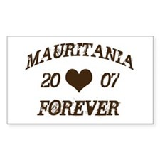 Mauritania Forever Rectangle Decal