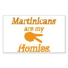 Martinique homies Rectangle Decal