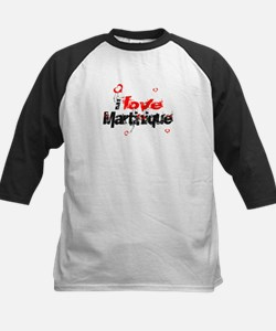 i love Martinique Kids Baseball Jersey