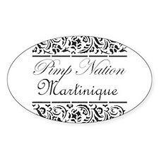 Pimp nation Martinique Oval Decal