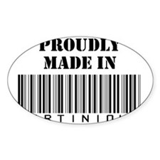 made in Martinique Oval Decal