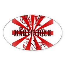 Vintage Martinique Oval Decal