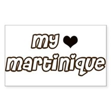 my heart Martinique Rectangle Decal