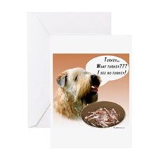 Wheaten Turkey Greeting Card