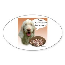 Spinone Turkey Oval Decal
