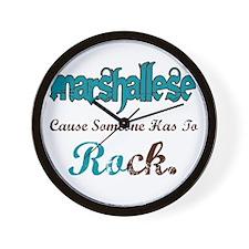 Marshallese Rock Wall Clock