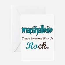 Marshallese Rock Greeting Card