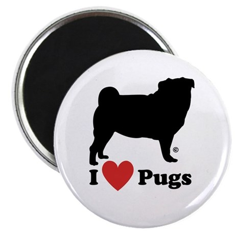 "I love Pugs 2.25"" Magnet (10 pack)"
