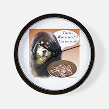 Tibetan Mastiff Turkey Wall Clock