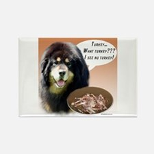 Tibetan Mastiff Turkey Rectangle Magnet