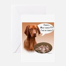 Vizsla Turkey Greeting Card