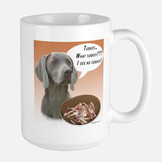 Weimaraner Turkey Large Mug
