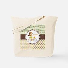 Vintage Floral Personalized Cute Bicycle Tote Bag