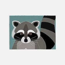 Raccoon Rascal 5'x7'Area Rug