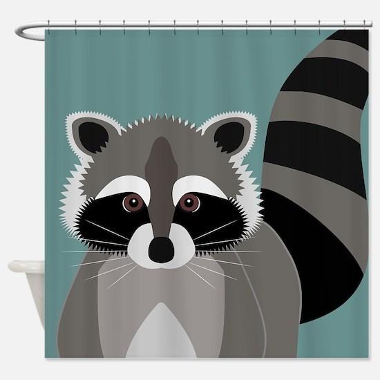 Raccoon Rascal Shower Curtain