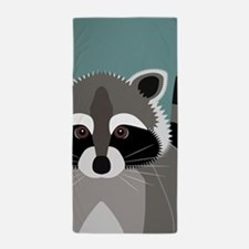 Raccoon Rascal Beach Towel