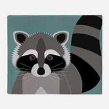 Raccoon Rascal Throw Blanket