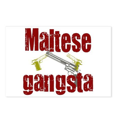 Maltese Gangsta Postcards (Package of 8)