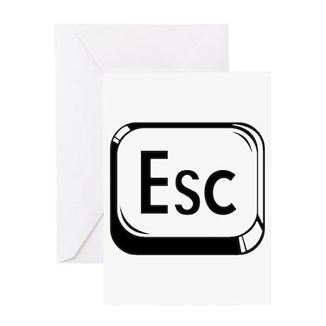 Escape Key Greeting Card