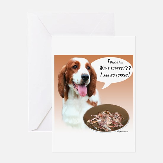 Welsh Springer Turkey Greeting Card