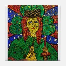 Cute St dymphna Tile Coaster