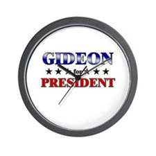 GIDEON for president Wall Clock