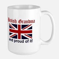 Proud British Grandma Mugs