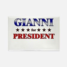 GIANNI for president Rectangle Magnet