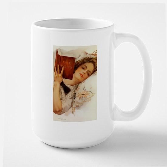 Fisher Girl Reader Lady Vintage Mugs