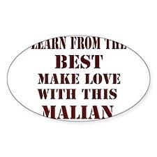 Learn best from Malian Oval Decal