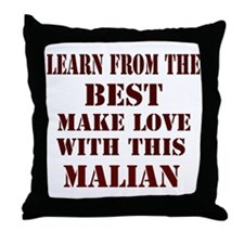 Learn best from Malian Throw Pillow