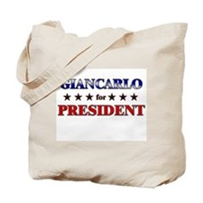 GIANCARLO for president Tote Bag