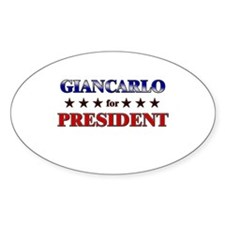 GIANCARLO for president Oval Decal