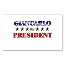 GIANCARLO for president Rectangle Decal