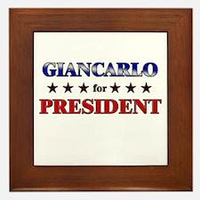 GIANCARLO for president Framed Tile