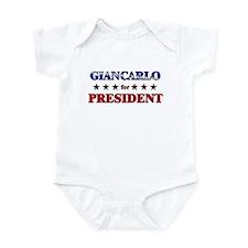 GIANCARLO for president Infant Bodysuit
