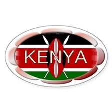 KENYA - Oval Decal