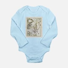 Vintage Map of Virginia and Maryland (17 Body Suit