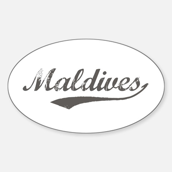 Maldives Flanger Oval Decal