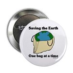 """Saving the Earth 2.25"""" Button"""