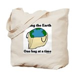 Saving the Earth Tote Bag