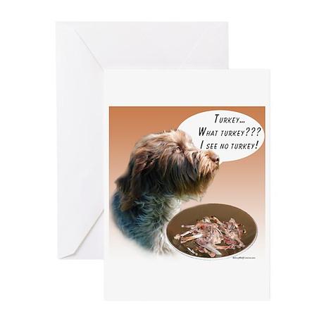 Griffon Turkey Greeting Cards (Pk of 10)