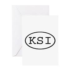 KSI Oval Greeting Card