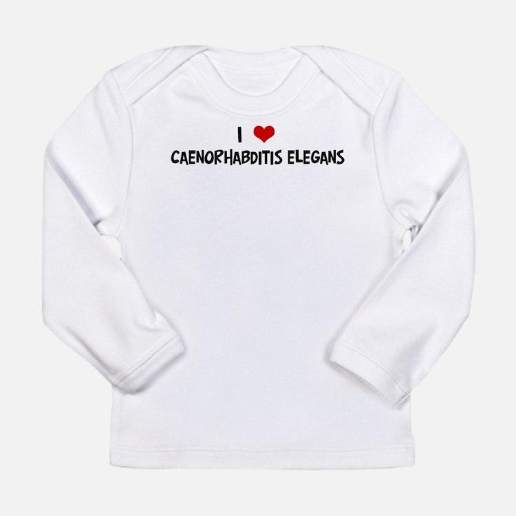 I Love Caenorhabditis Elegans Long Sleeve T-Shirt