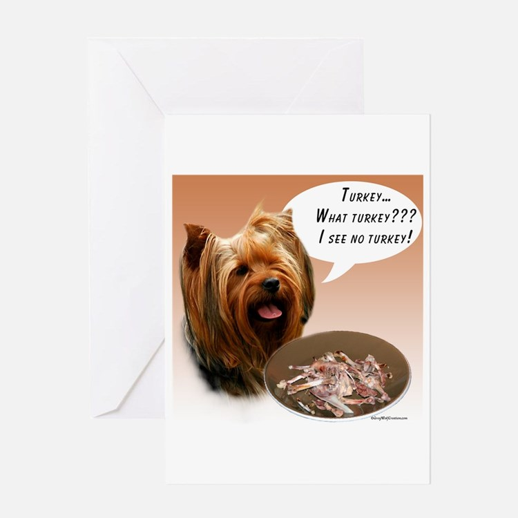 Yorkie Turkey Greeting Card