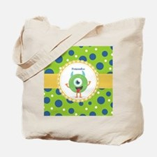Silly Monster Friend Personalized Tote Bag