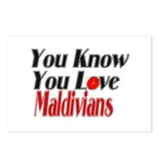 You love Maldives Postcards (Package of 8)