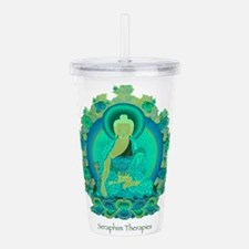 Teal psychedelic Buddh Acrylic Double-wall Tumbler