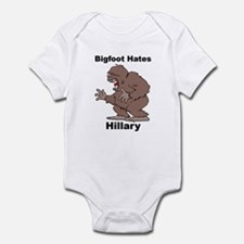 Bigfoot Hates Hillary Clinton Infant Bodysuit